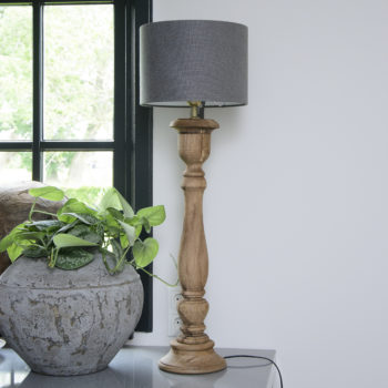 Houten lampenpoot Bollini 78 cm.