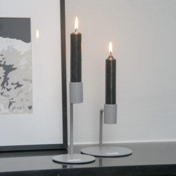 Kandelaar Curve Lichtgrijs 10 cm.